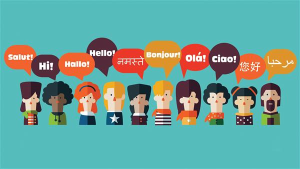 people saying hello in many languages