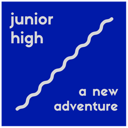 words junior high a new adventure with upward trajectory line